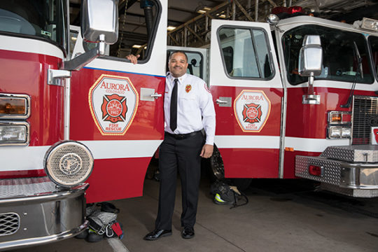 Aurora Fire Rescue Chief Fernando Gray stands for a portrait Dec. 19 at Fire Station No. 8.Photo by Philip B. Poston/Aurora Sentinel