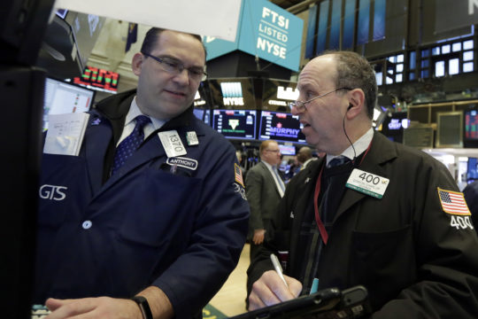 United States  stocks end lower after choppy trading