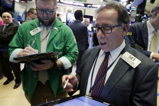 US, European stocks up sharply, oil prices fall