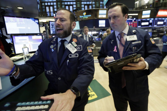 Dow swings begin; down 130 after 30 minutes