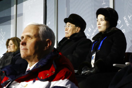 Pence `Encouraged' by Talks With South Korea's Moon at Olympics