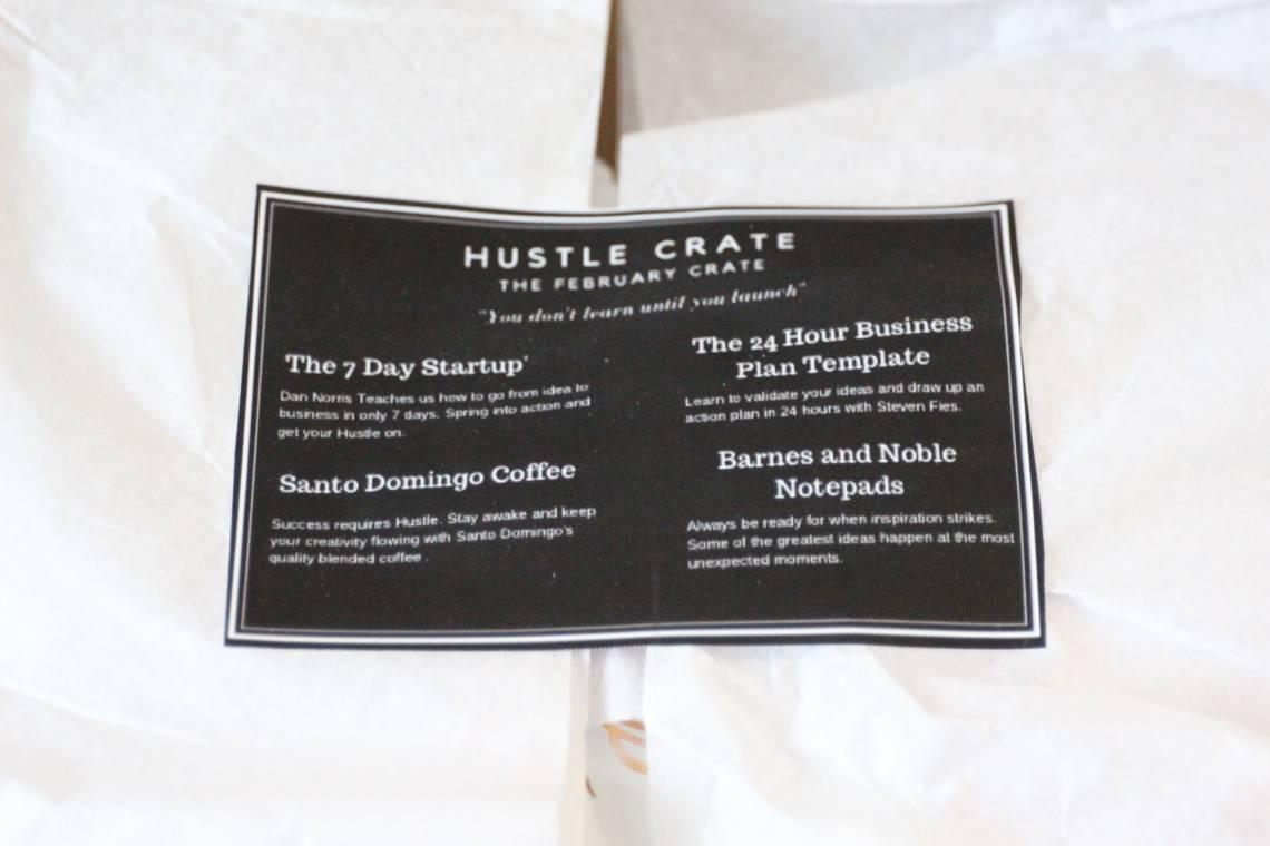 Hustle Crate February 2016 1