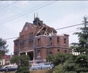 1958-Downtown-Demolition of Old Post Office on Dunlop Street-MIN