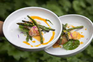 ROCK LOBSTER WITH FINE ASPARAGUS