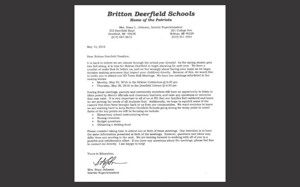 BD Town Hall Letter Image