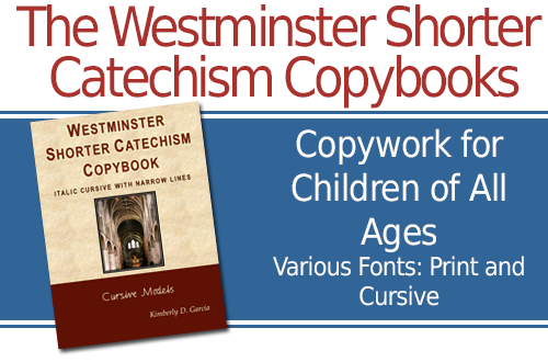 image regarding Westminster Shorter Catechism Printable known as Westminster Small Catechism Copybook--