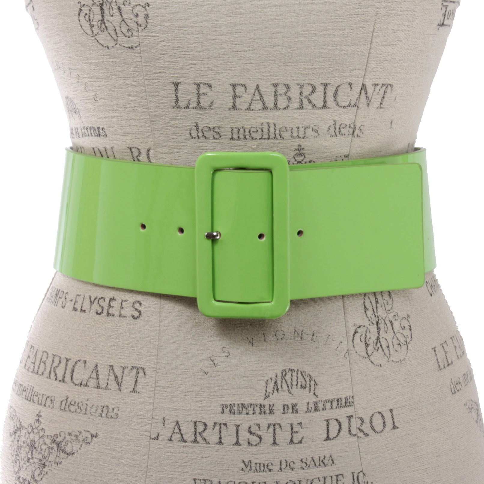 Women/'s High Waist Wide Patent fashion Square Belt