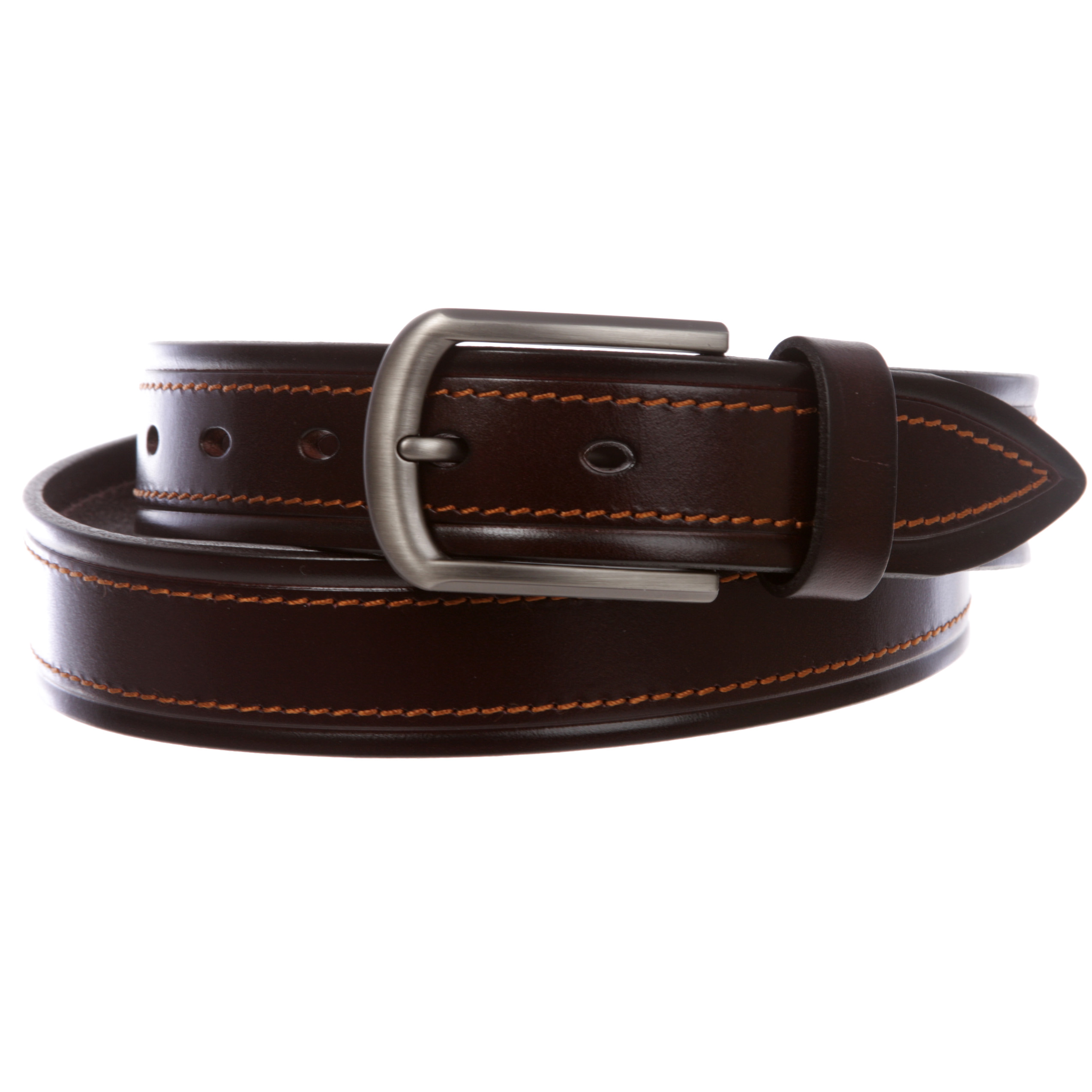 """34 mm Double Stitched Men/'s Italian Leather Belt 1-1//4/"""""""