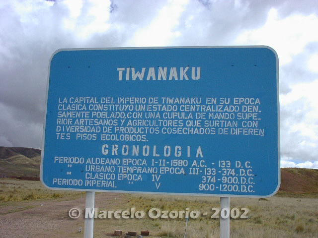 tiwanaku archaeological site bolivia 1 - Tiwanaku, pre-columbian archaeological and world heritage site at Bolivia