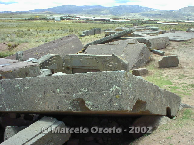 tiwanaku archaeological site bolivia 102 - Tiwanaku, pre-columbian archaeological and world heritage site at Bolivia