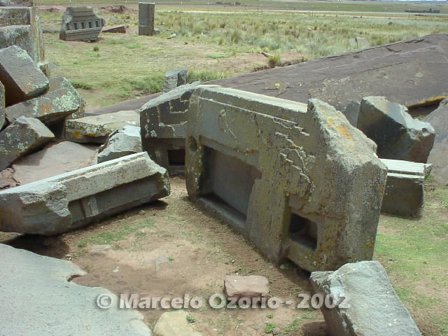 tiwanaku archaeological site bolivia 103 - Tiwanaku, pre-columbian archaeological and world heritage site at Bolivia