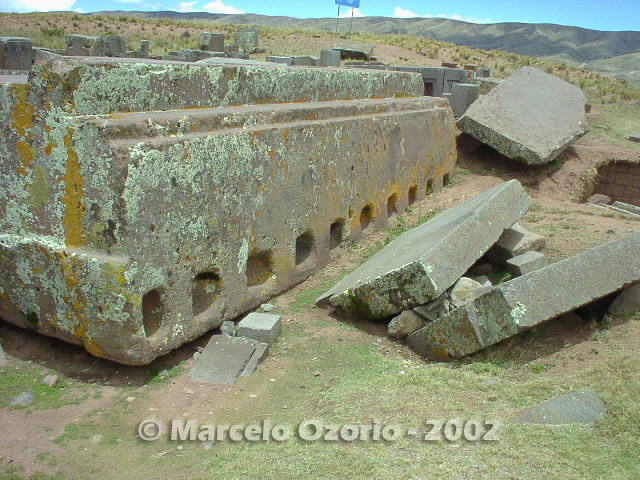 tiwanaku archaeological site bolivia 108 - Tiwanaku, pre-columbian archaeological and world heritage site at Bolivia