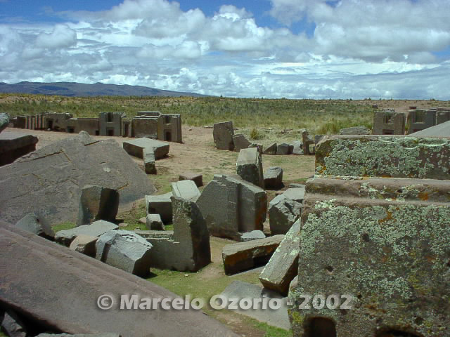 tiwanaku archaeological site bolivia 115 - Tiwanaku, pre-columbian archaeological and world heritage site at Bolivia