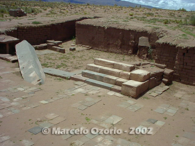 tiwanaku archaeological site bolivia 119 - Tiwanaku, pre-columbian archaeological and world heritage site at Bolivia