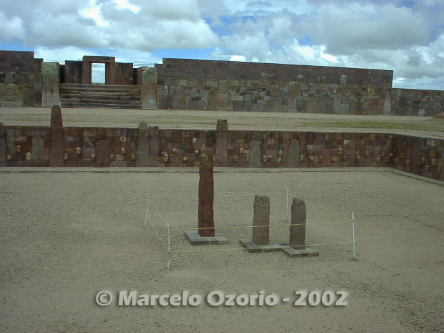 tiwanaku archaeological site bolivia 16 - Tiwanaku, pre-columbian archaeological and world heritage site at Bolivia