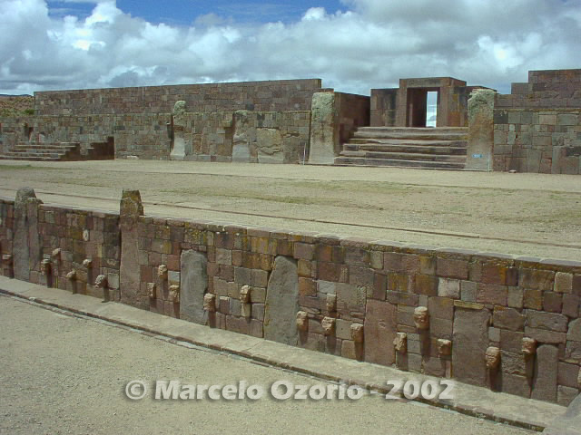 tiwanaku archaeological site bolivia 17 - Tiwanaku, pre-columbian archaeological and world heritage site at Bolivia