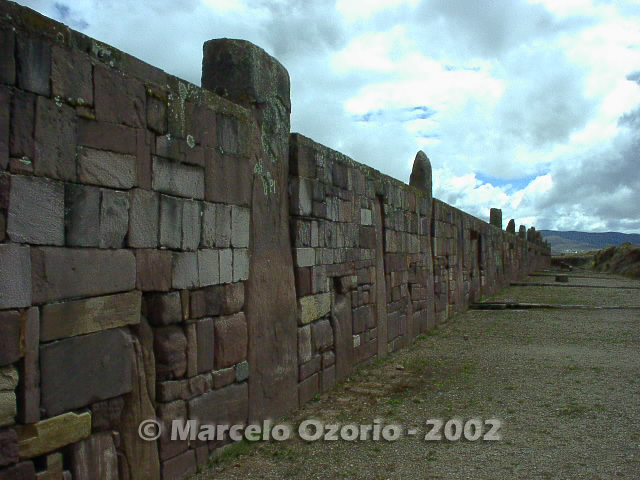 tiwanaku archaeological site bolivia 2 - Tiwanaku, pre-columbian archaeological and world heritage site at Bolivia
