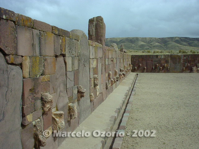 tiwanaku archaeological site bolivia 24 - Tiwanaku, pre-columbian archaeological and world heritage site at Bolivia