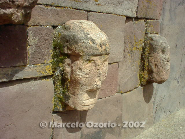 Detail of carved stone head