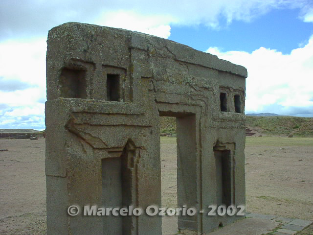 tiwanaku archaeological site bolivia 66 - Tiwanaku, pre-columbian archaeological and world heritage site at Bolivia