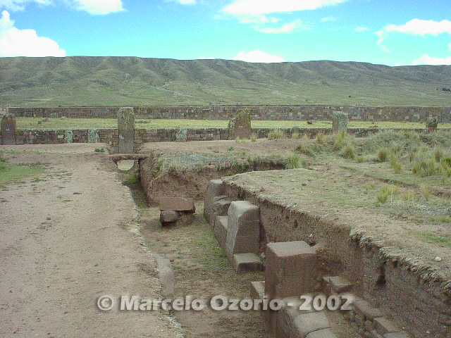 tiwanaku archaeological site bolivia 69 - Tiwanaku, pre-columbian archaeological and world heritage site at Bolivia