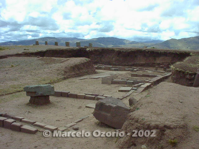 tiwanaku archaeological site bolivia 75 - Tiwanaku, pre-columbian archaeological and world heritage site at Bolivia