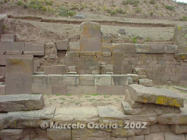tiwanaku archaeological site bolivia 77 - Tiwanaku, pre-columbian archaeological and world heritage site at Bolivia