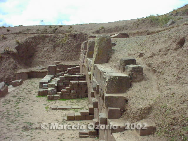 tiwanaku archaeological site bolivia 78 - Tiwanaku, pre-columbian archaeological and world heritage site at Bolivia