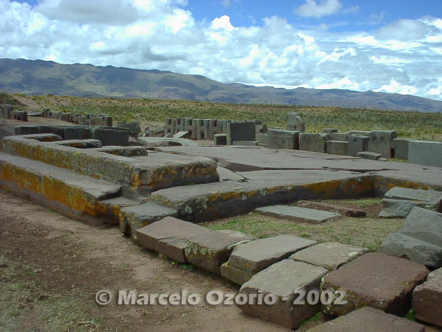 tiwanaku archaeological site bolivia 96 - Tiwanaku, pre-columbian archaeological and world heritage site at Bolivia