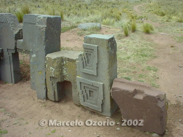 tiwanaku archaeological site bolivia 97 - Tiwanaku, pre-columbian archaeological and world heritage site at Bolivia