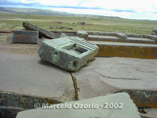 tiwanaku archaeological site bolivia 99 - Tiwanaku, pre-columbian archaeological and world heritage site at Bolivia