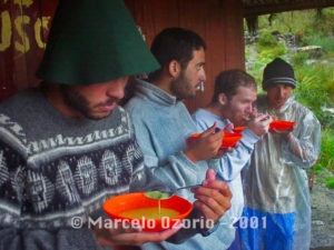 Soup Time at Camping Base of Pacamayo
