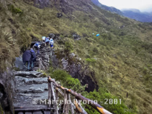 Crossing Runkuraqay Pass
