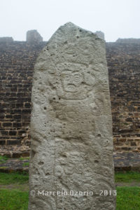 stele 9 monte alban 1 200x300 - Monte Alban, capital of ancient Zapotec Civilization. Archaeological site at Oaxaca, Mexico