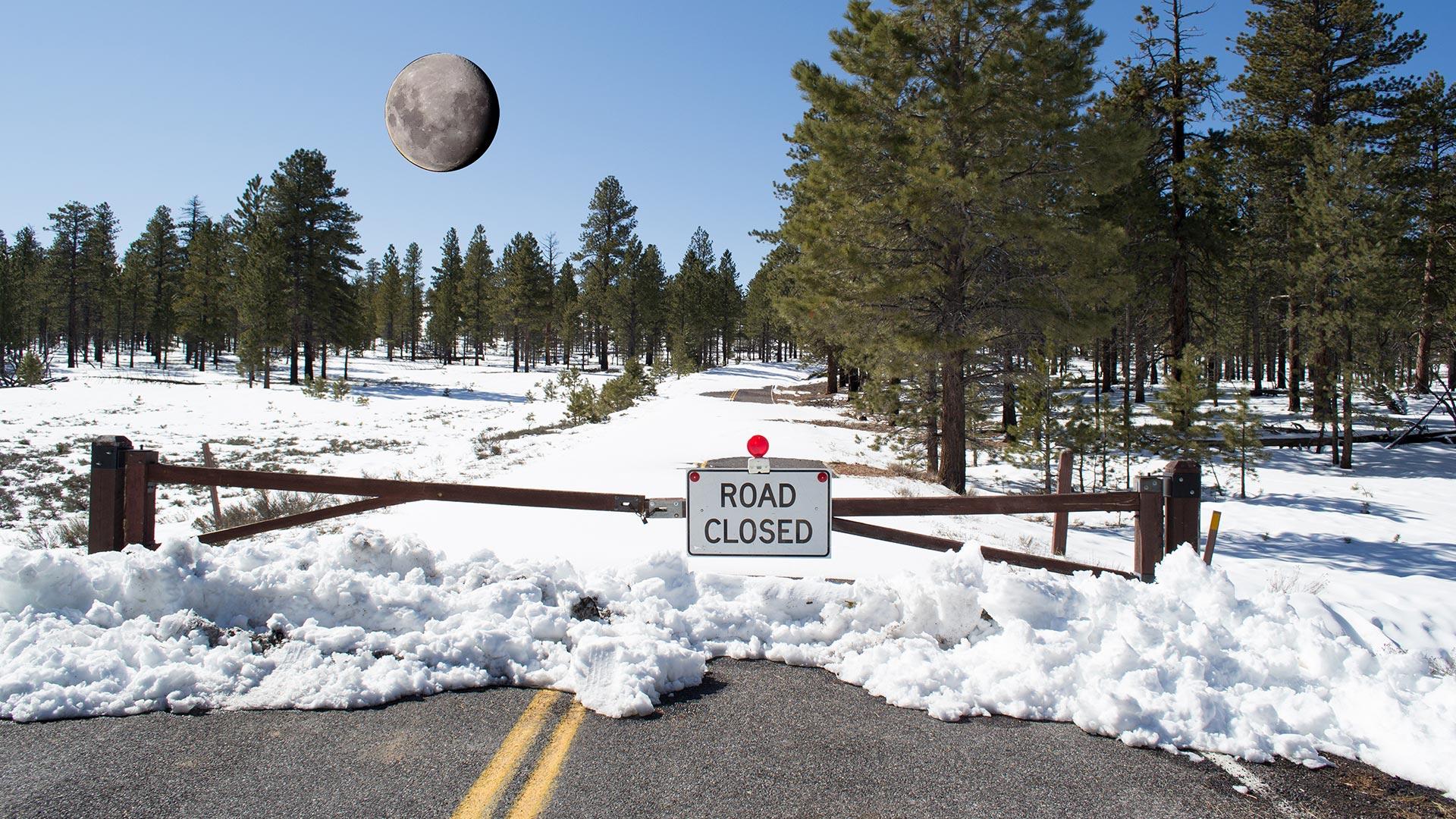 Bryce Canyon Winter Road - Utah