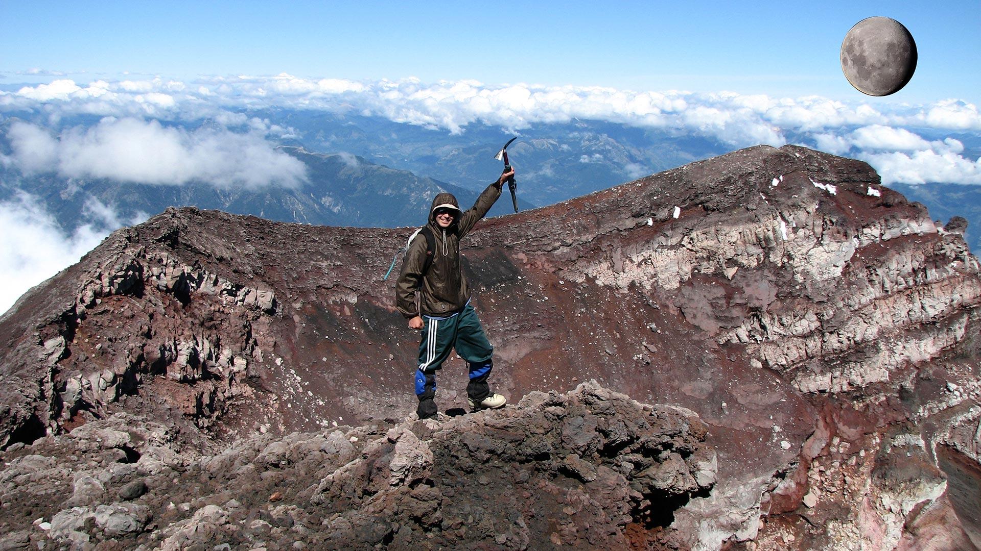Topo do Vulcão Llaima - Chile