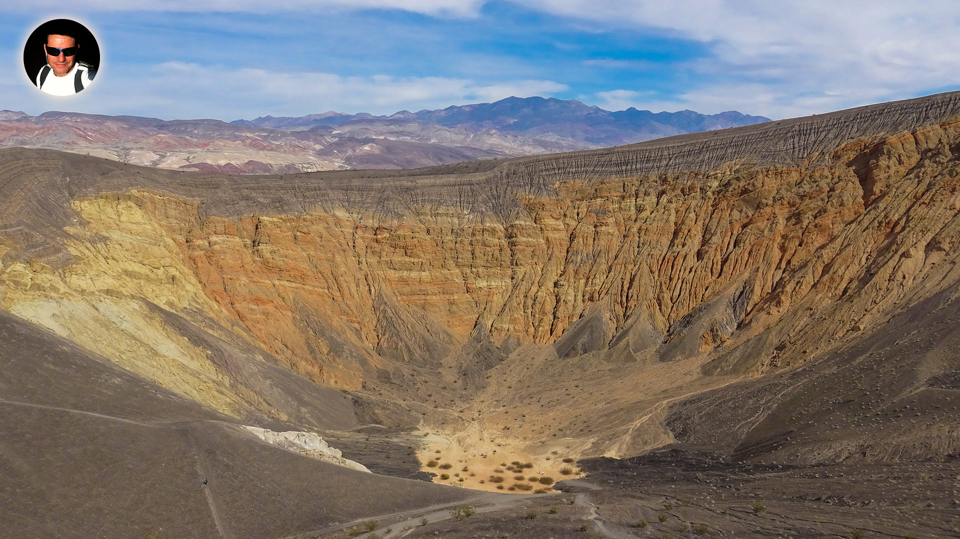 ubehebe crater at death valley national park in california