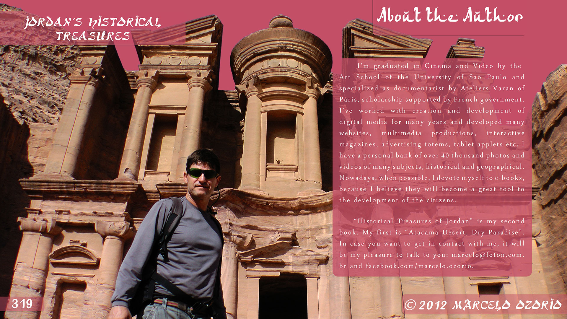 Marcelo Ozorio author book Jordan s Historical Treasures 2 - The Astonishing Treasure at Petra - Jordan
