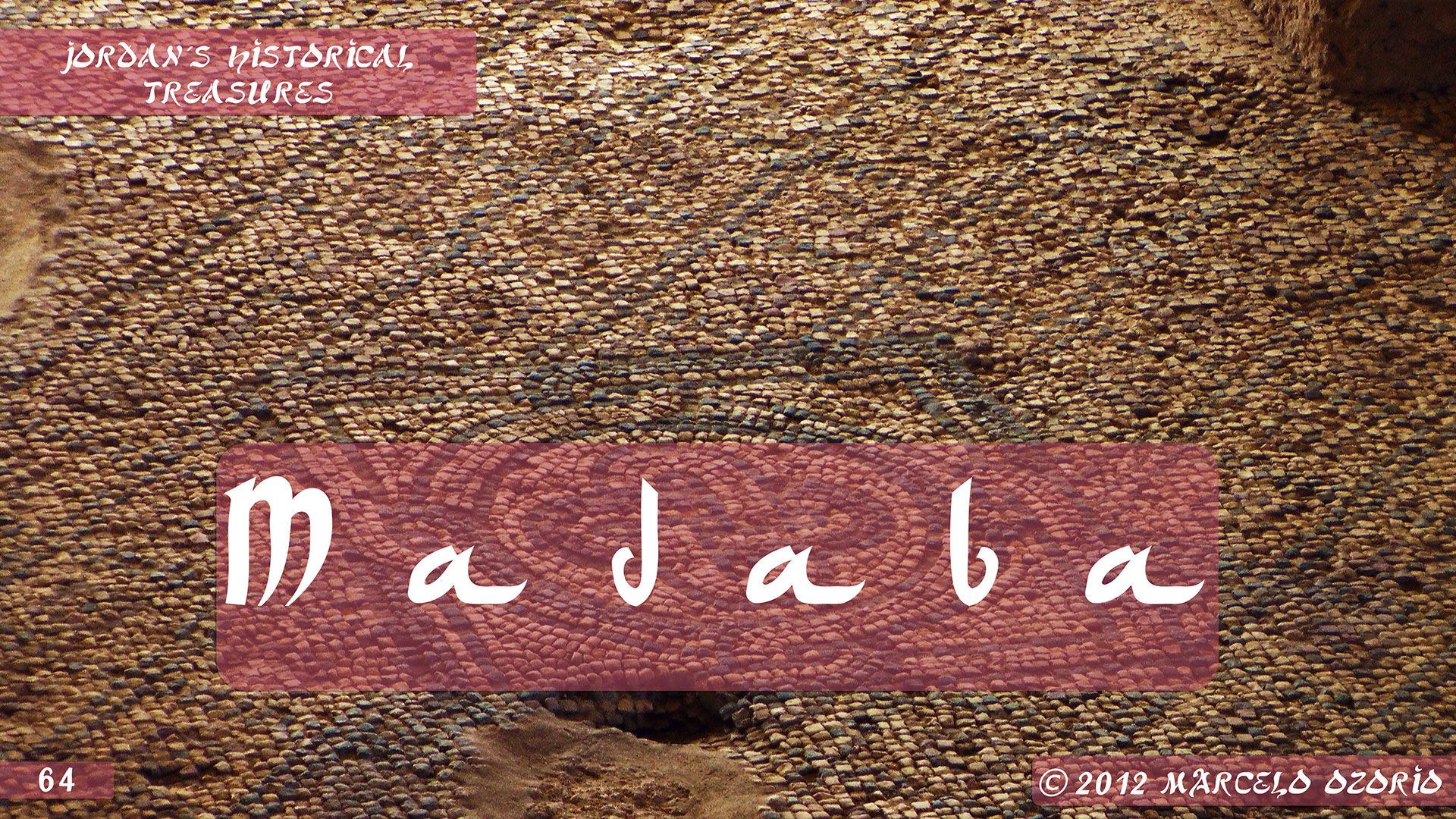 Madaba Mosaics Jordan 1 - Madaba, Mosaicos da Era Bíblica