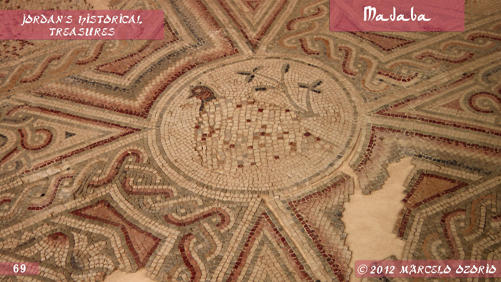 Madaba Mosaics Jordan 6 - Madaba, Mosaicos da Era Bíblica