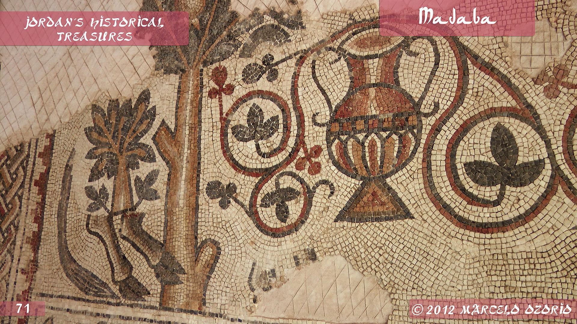 Madaba Mosaics Jordan 8 - Madaba, Mosaicos da Era Bíblica