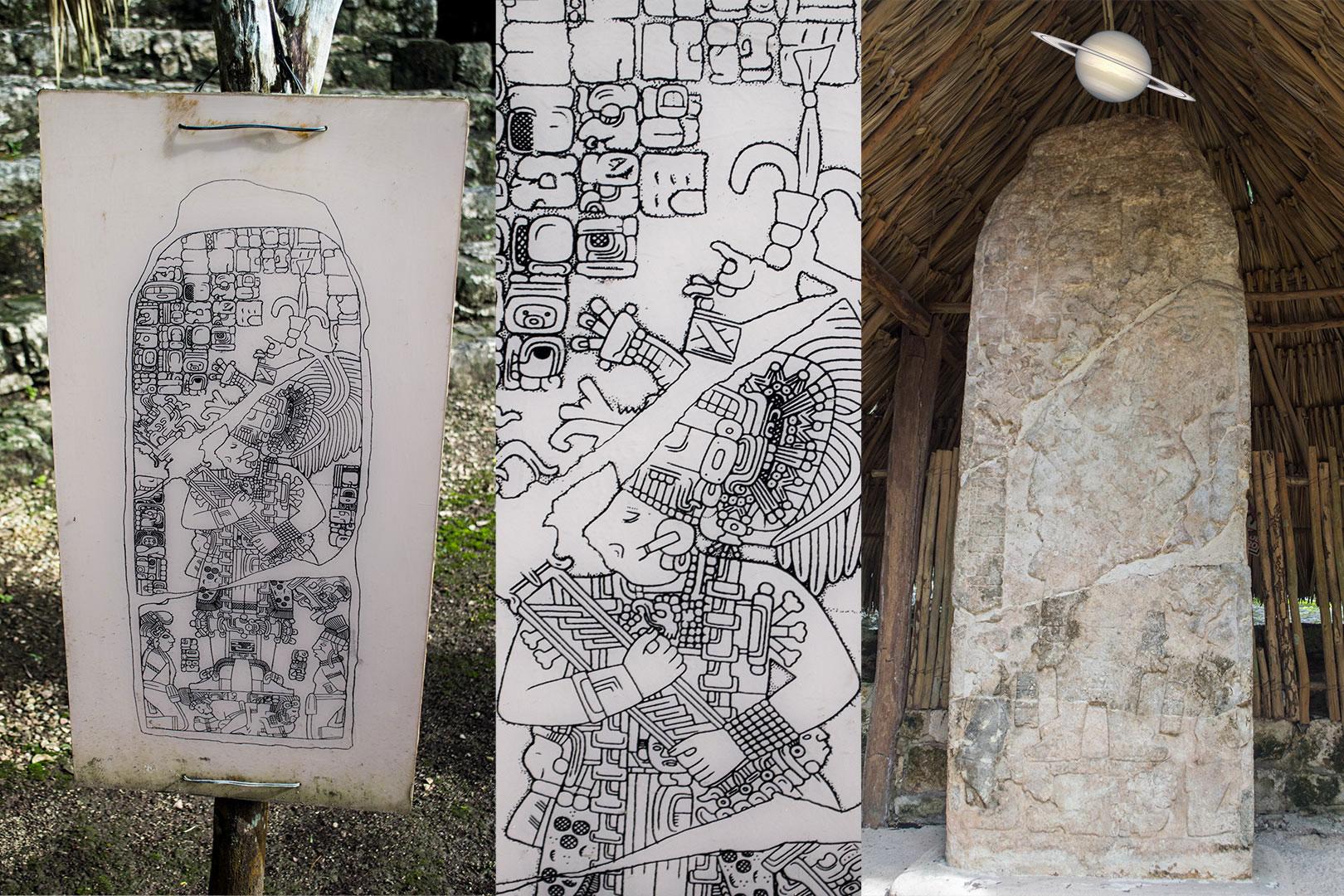 estela2 - Suba uma Pirâmide em Coba, Antiga Cidade Maia, México
