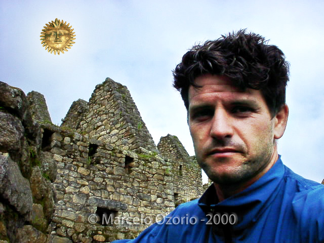 Marcelo Ozorio at Machu Picchu in 2000