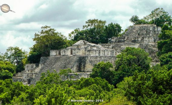 calakmul mayan civilization mexico 45 570x350 - Calakmul, City of the Two Adjacent Pyramids - Mexico