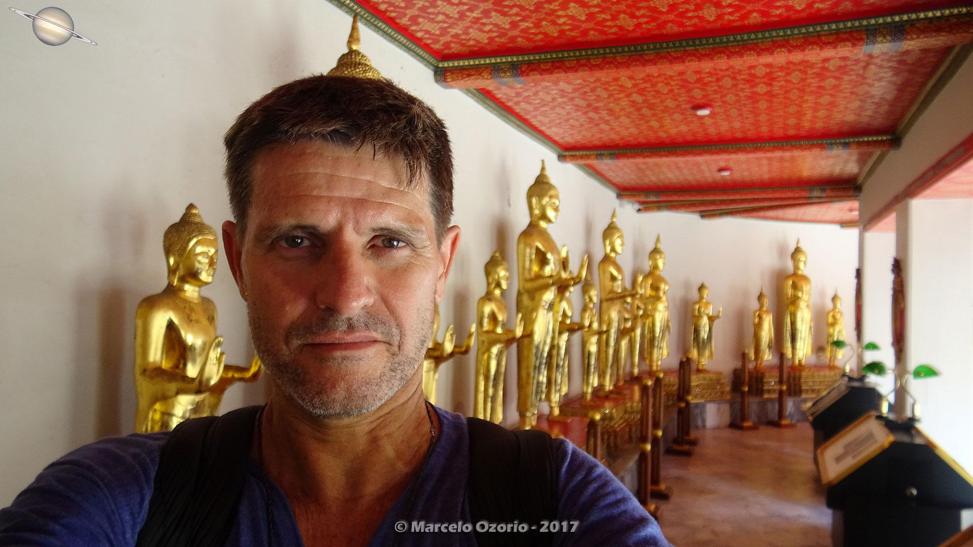 Marcelo Ozorio no Templo Wat Pho - Bangkok - Tailandia