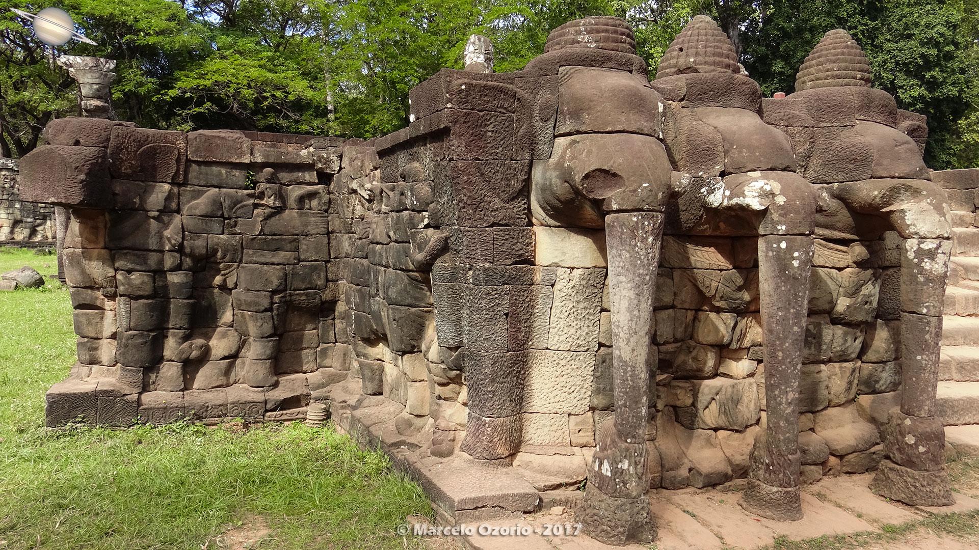 Terraço dos Elefantes - Siem Reap - Camboja