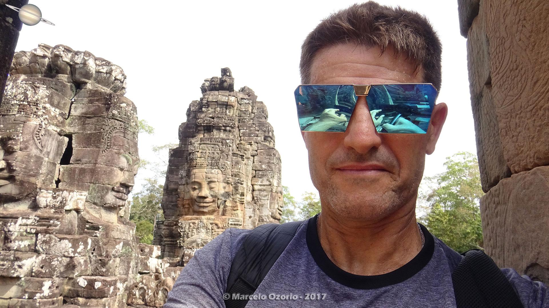 Marcelo Ozorio no Templo Bayon - Siem Reap - Camboja