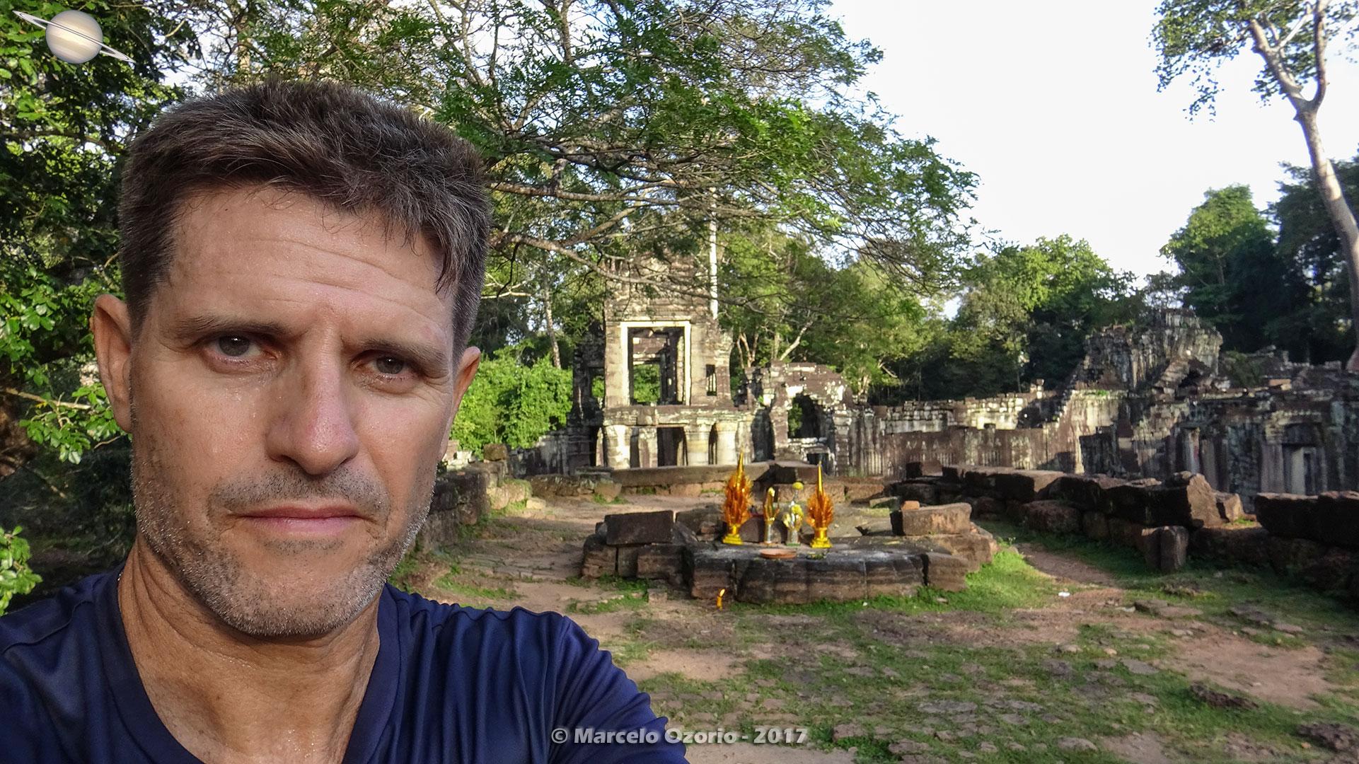 Marcelo Ozorio no Templo Preah Khan - Siem Reap - Camboja