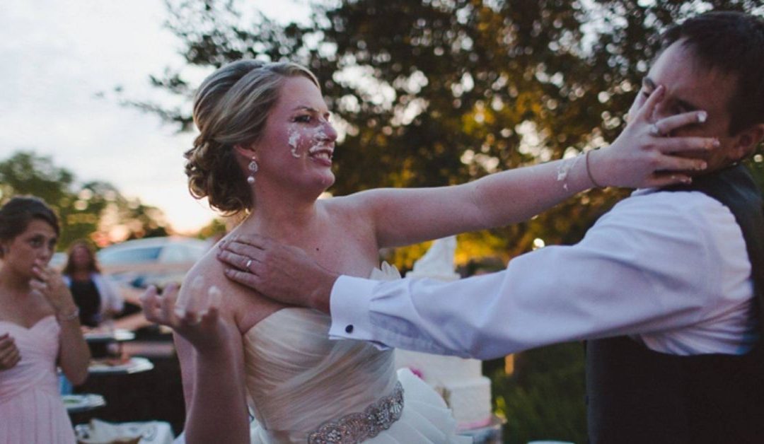 Smash the Cake no ensaio fotográfico de casamento