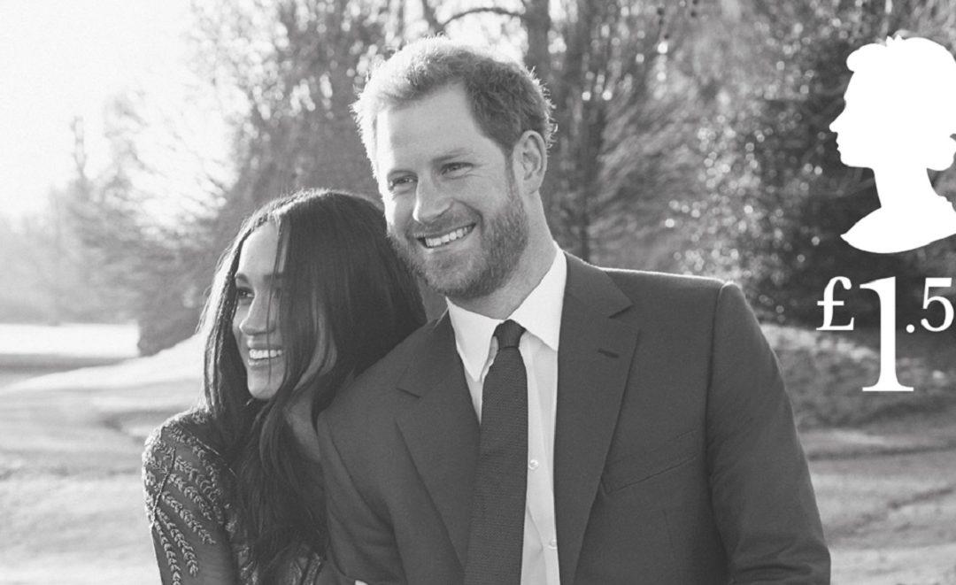 Selos do casamento do príncipe Harry são lançados pelo correio britânico